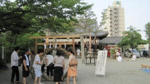 2018年7月16日(月)八雲神社・25日(水)松阪神社・御厨神社 輪越し(夏越し)