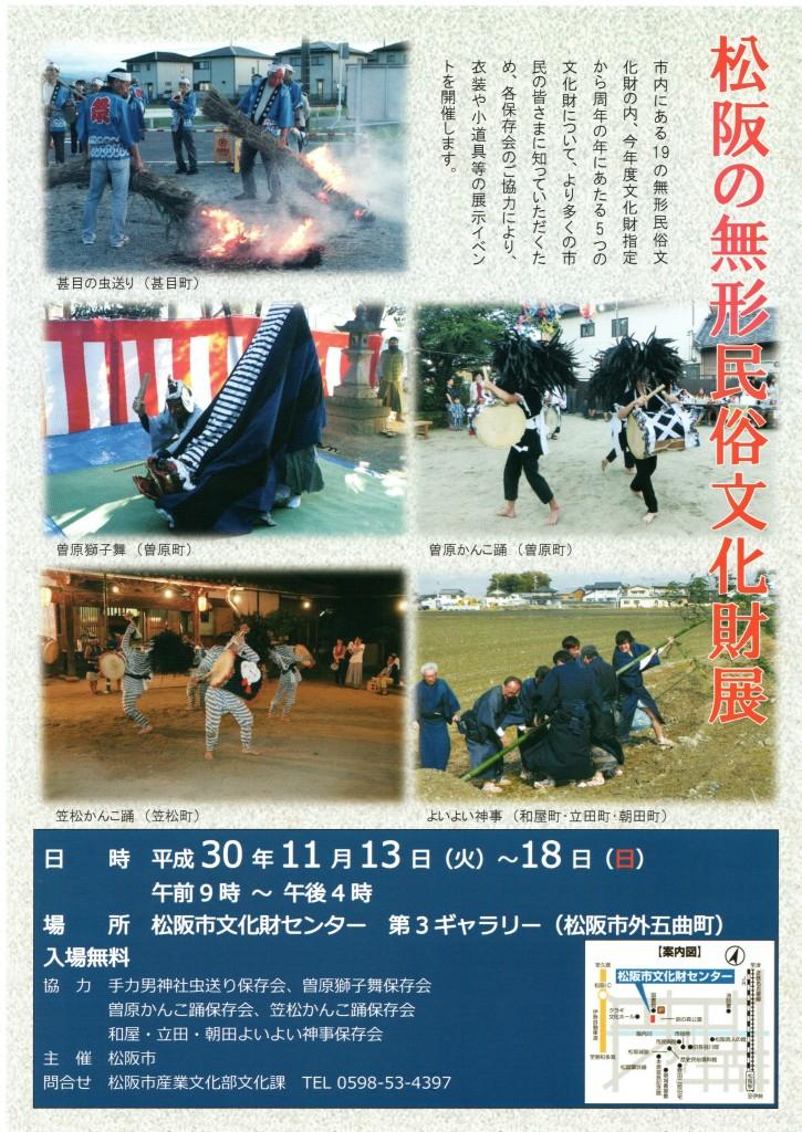 松阪の無形民俗文化財展